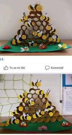 Preschool Insect Crafts For Kids Kindergarten Crafts, Preschool Crafts, Diy Crafts For Kids, Arts And Crafts, Children Crafts, Craft Ideas, Insect Crafts, Bee Crafts, Toilet Paper Roll Crafts