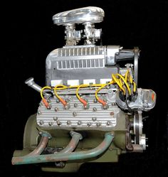 Flathead Ford with vintage blower. Crate Engines, Performance Engines, Car Engine, Ford Trucks, Pickup Trucks, Diesel Engine, Drag Racing, Old Cars, Custom Cars