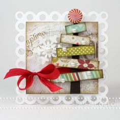 Another fun scrap-tree for easy CHristmas cards.