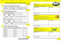 Une évaluation sur les durées (CM1)