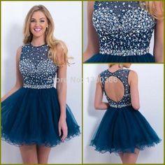 vestidos curtos de renda azul de festa