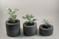Rough Fusion Round Grey Concrete Pot Set | 2Modern Furniture & Lighting