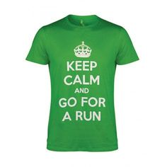 Are you a runner? Jogger? Proudly show it to the world by wearing this 100% cotton lightweight shirt! Keep Calm And Go For A Run T-Shirt. Only £14.99