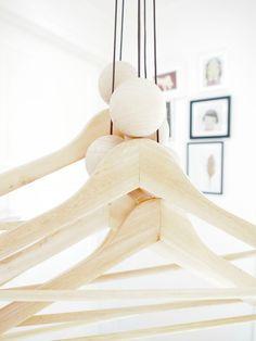 woody string hangers