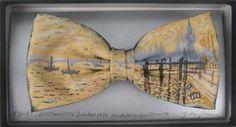 Monet's Westminister Bridge by Jack Kirwan - BOWTIE Monet, Bows, Hand Painted, Bow Ties, Artist, Bridge, Trends, Clothes, Accessories