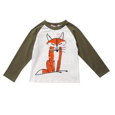 Kids T Shirt Cartoon Animal full Sleeve Boy Girl T shirt Baby Clothes  Outfits New 2017 Summer Fox Print Children T shirts Tops-in T-Shirts from  Mother ... 1a6c68541d70