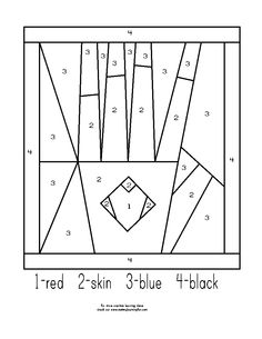 Free The Kissing Hand Color By Number coloring page