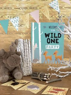 Wild ONE Birthday Party Printable Package Woodland Kit Decor Boy Girl Twins Theme First