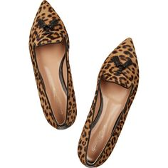 57e22fc72c5 Slight heel Leopard-print calf hair Slip on