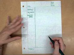 Teach your students how to take Cornell notes. Keywords and questions are written in the left margin. Notes on the right. This way a student can cover the notes up and use the left margin to study and find the answers right on the page. Teaching Activities, Teaching Strategies, Teaching Tools, Teaching Resources, Teaching Manners, Teaching Biology, Classroom Resources, Stem Activities, Classroom Ideas