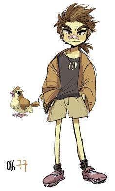 #16. Pidgey (humanized/gijinka pokemon series by tamtamdi on tumblr)