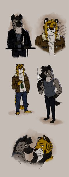 Hyena & Tiger designs - by RayFkm