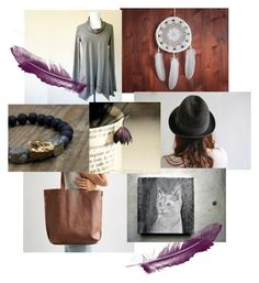 """The Plum Feather"" by insearchofwild ❤ liked on Polyvore featuring art"