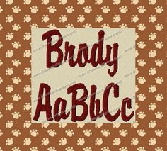 Brody Embroidery Fonts 3 Sizes