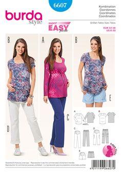 BD6607 Burda Style Pattern 6607 Maternity Coordinates