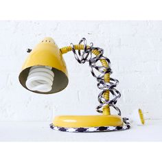 15% SALE - Vintage Industrial Yellow Gooseneck Desk Lamp with... ($157) ❤ liked on Polyvore