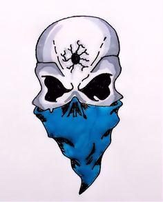 Skull Gangster Tattoo Drawings | Gangsta Skull by TheJokesOnYou