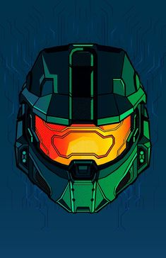 Chief art by Jafet Meza Master Chief Cosplay, Halo Master Chief Helmet, Master Chief Armor, Master Chief Costume, Master Chief And Cortana, The Legend Of Zelda, The Plan, Daft Punk, Star Lord