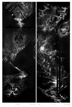 large fine art print  Emerge Collapse  diptych by LoveHoldLetGo, $50.00