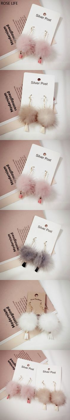 The new Fashion alloy ear stud sweet temperament High-grade sable series earrings sweet and lovely women's earrings