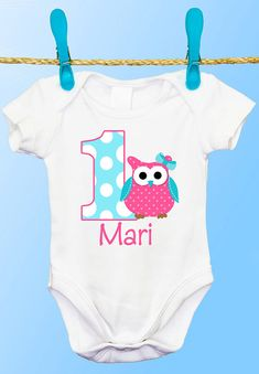 Personalized Owl 1st Birthday T Shirt or by CutiesTieDyeBoutique, $18.00