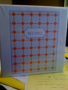 RECIPE BOOK Diy Recipe, Recipe Books, Organize, Stamps, Printables, Scrapbook, Organization, Crafty, Recipes