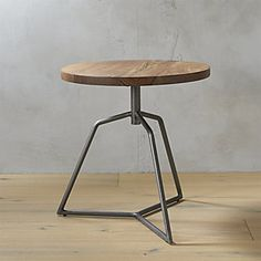 Shop Mill C Side Table. Cool c-table that pulls right up to the sofa or bed is welded heavy-duty but looks light on its feet. Industrial iron with raw antiqued finish. mill c table is a exclusive. Modern Side Table, Modern Dining Chairs, Kitchen Chairs, Modern Bar, Room Chairs, C Table, End Tables, Corner Table, Round Storage Ottoman