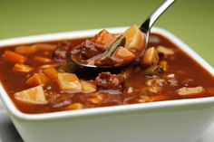 Slow Cooker Kansas City Steak Soup - Deliciously RICH in FLAVOR!  www.GetCrocked.com