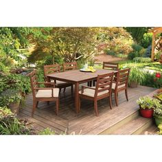 Better Homes and Gardens Sutton Island 7-Piece Patio Dining Set, Seats 6