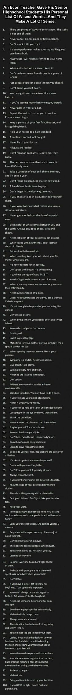 Some wise words to really consider in the journey of life. BC