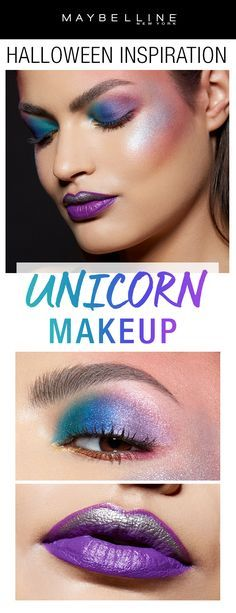 Last minute Halloween costume inspiration: unicorn makeup! Rock some of your brightest makeup looks all together for this trendy unicorn makeup look for Halloween! Click through to see more Halloween makeup inspiration.