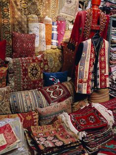 Turkish rug shop.  Amazing to see how they can toss out huge rugs with the flick of a wrist.