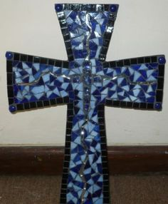 Blue Mosaic Cross within a cross