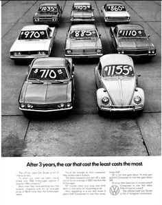 1966 ad, one of the smartest car ads I've ever seen. | All The Great Mad Men Era Volkswagen Ads