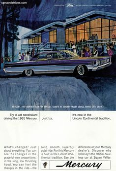 1965 Mercury Park Lane - Try to act nonchalant driving the 1965 Mercury - Original Ad