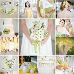 Love the flowers and the colour of the bridesmaids dresses. Add in a little pail blue and all would be perfect