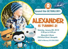 Octonauts  Birthday Party Invitation  Digital by PrettyPaperPixels, $8.99