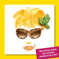 """Campagne """"food art"""" pour théâtralisation vitrines d'un réseau d'opticiens indépendants, pour LUZ optique, avec Preview ImageMaker"""