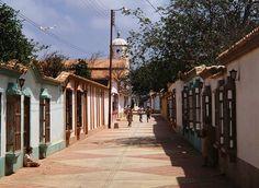 Pueblo con calles de adoquín
