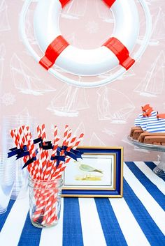 Nautical Themed Sailboat Birthday Party - Kara's Party Ideas - The Place for All Things Party