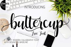 DLOLLEYS HELP: Buttercup Free Font
