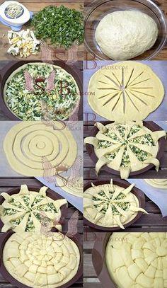 Idea para presentar una empanada o pastel tipo pie