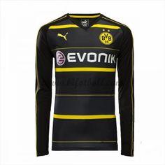 2d5ee440cc021 Billiga Fotbollströjor BVB Borussia Dortmund 2016-17 Långärmad Borta  Matchtröja