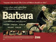 Barbara -- Winner of the Best Director prize at this year's Berlin Film Festival, the latest film from Christian Petzold (Yella, Jerichow) is a simmering, impeccably crafted Cold War thriller, starring the gifted Nina Hoss-in her fifth lead role for the director-as a Berlin doctor banished to a rural East German hospital as punishment for applying for an exit visa. Directed by Christian Petzold