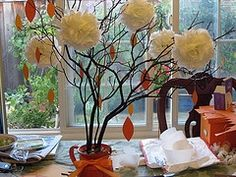 This is really lovely. I want to have people sign tags in lieu of a guest book and hang the tags on the branches . . .