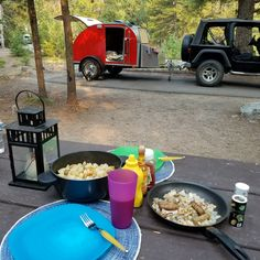 Breakfast at Wood River Campground