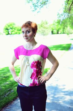 Woven top with top yoke (Simplicity 1620) | a fashionable stitch