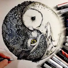 Ich liebe es Künstler zu sein ❤    #art #artworks #artist #arts #drawing #sketch #painting #drawing #creative #illustration #owls #picoftheday #pic #love #sketch #pencildrawing #pencil #real #realistictattoo #tattoo #awesome