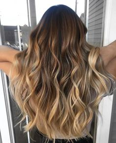 Moresoo Balayage Color Body Wave Seamless Human Hair Brazilian Hair Tape On Hair Extensions Brown Fading To Light Brown Highlighted With Blonde Ombre Hair Color, Hair Color Balayage, Hair Highlights, Caramel Highlights, Burgundy Highlights, Balayage Ombré, Bayalage, Brown Balayage, Hair Tape