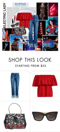 """""""Ruffled Off The Shoulder Blouse // Romwe"""" by lunar-bellistic ❤ liked on Polyvore featuring Dirty Pretty Things, Elie Saab, Sebastian Professional and Valentino"""
